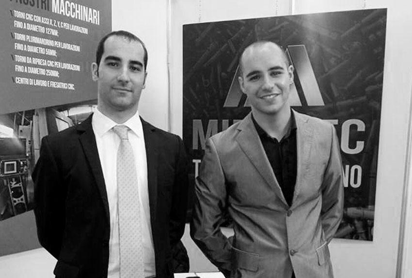 Giovanni e Giuliano Maglia, titolari della torneria Minumec